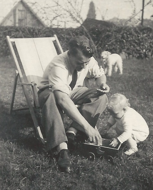 Walter und Stefanie mit einem Jahr